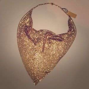 NWT Gold-plated Mesh Necklace 🎉